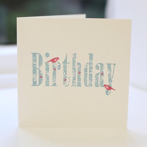 Jacky Al-Samarraie Birthday Letterpress Greeting Card
