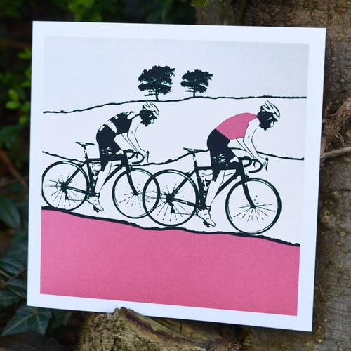 Jacky Al-Samarraie Female Cyclist Greeting Card