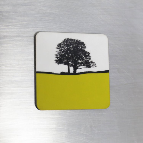 Jacky Al-Samarraie Fridge Magnet - Lime