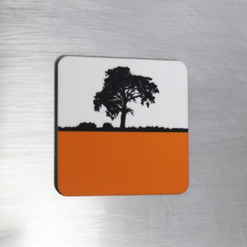 Jacky Al-Samarraie Fridge Magnet - Orange