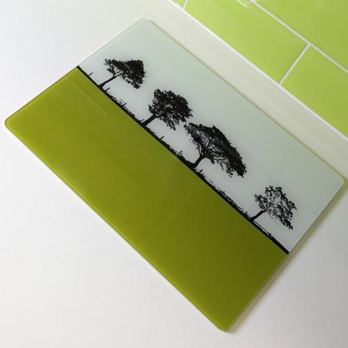 Jacky Al-Samarraie Landscape Glass Worktop Saver - Lime