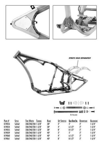 Bike-In-A-Box Frame Sub-assembly - K19061 (Frame, Oil Tank, Gas Tank)