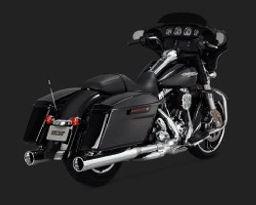 Monster Round Slip-Ons Chrome 1995-2014 Harley Davidson Touring