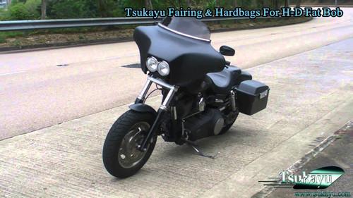 Black paint 6x9 Batwing Fairing Harley Davidson Fat Bob