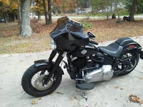 Black Paint Batwing GPS Fairing, 6x 9 Speakers & Stereo Harley Davidson Softail Slim (FLS)