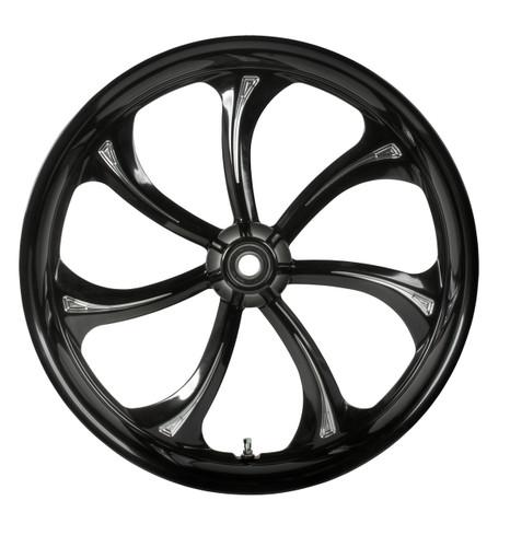 Colorado Customs Manhattan 7-spoke twirled swirled wheel - clean, crisp look