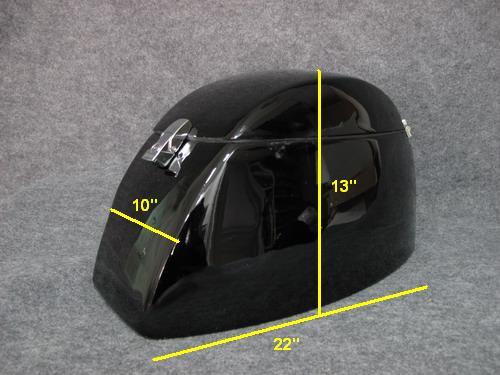Hard Saddlebags for Softail Deluxe - Gloss Black