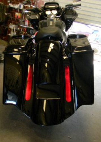 Extended Bagger Bags for Harley Davidson - Painted