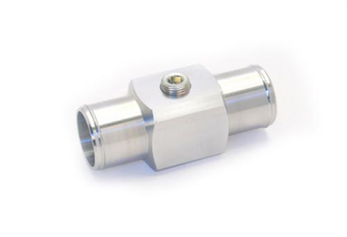 "81-302 Aluminum Inline Coolant Acc Tube 1.5"" Hose 3/8"" NPT Port"
