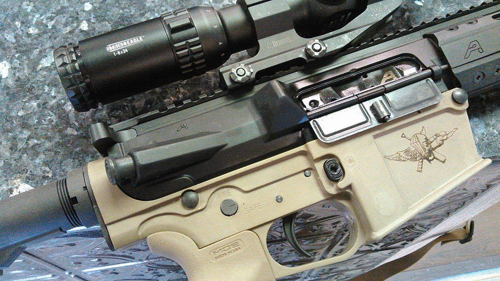 CO2 Engraving Example Only, Upper and Scope not included on a complete lower...