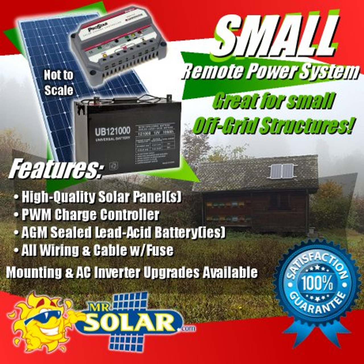 170w Small Remote Power System Kit