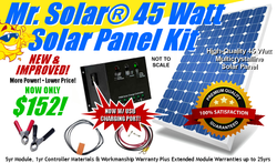 Mr. Solar 45 Watt Solar Panel Kit w/ USB Power/Charging Port