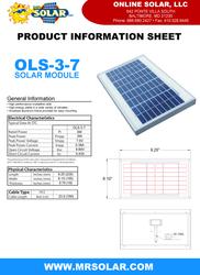 Mr. Solar® 3W 7V Solar Panel