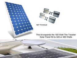 Mr. Solar® DIYPower The Traveler EK 160 Watt, Expansion Kit for The Traveler Solar Panel Kit (TRVLR-160)