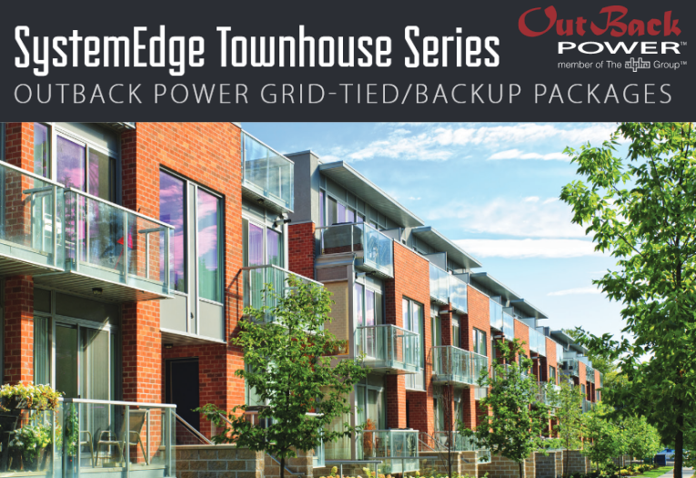 For the best battery backup power solution for your townhouse, get the SystemEdge Townhouse Series power package for power when the grid goes down!