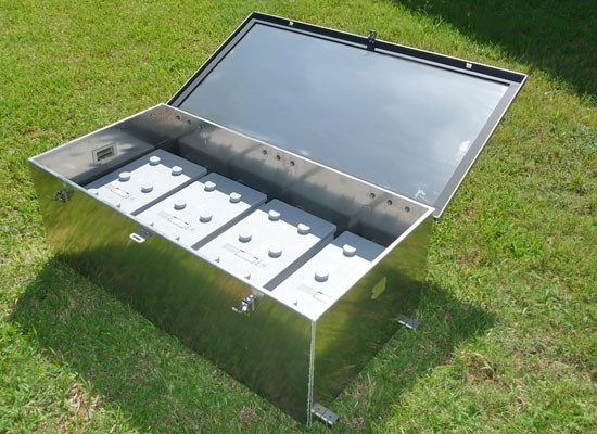 BBA-10 Aluminum Battery Enclosure