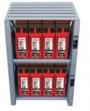 Outback Indoor 2 Shelf Integrated Battery Rack