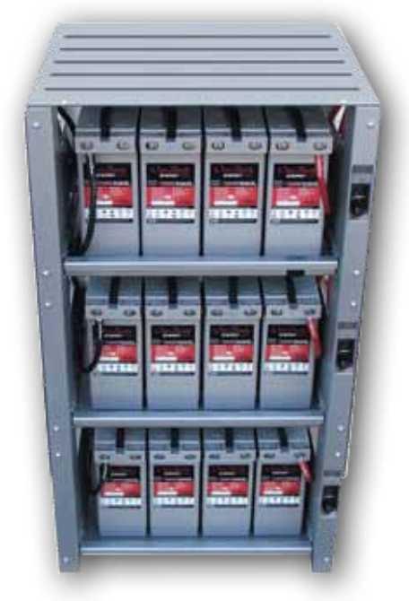 Outback Indoor 3 Shelf Integrated Battery Rack