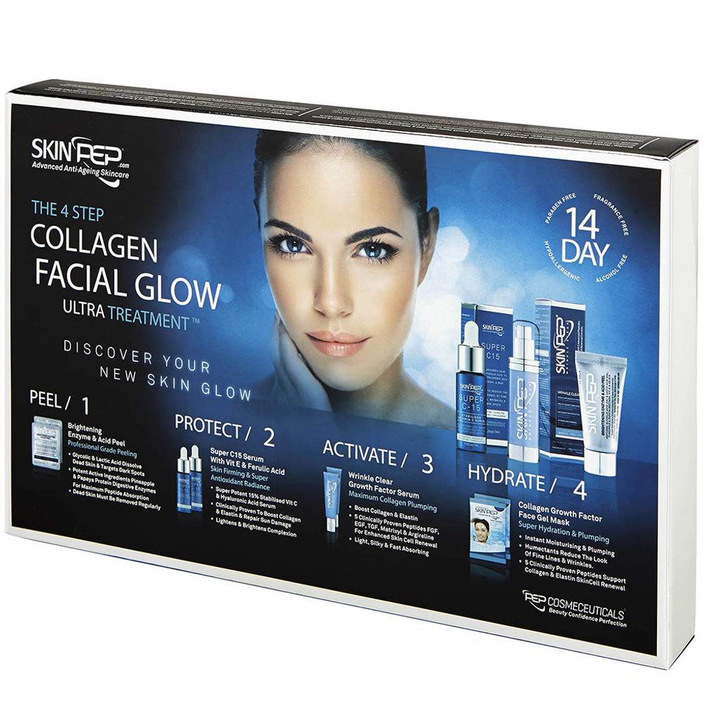 4 Step Collagen Facial Glow Treatment - 14 Day Set