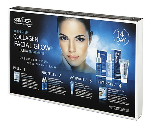 4 Step Collagen Facial Glow ULTRA Treatment - 14 Day Set