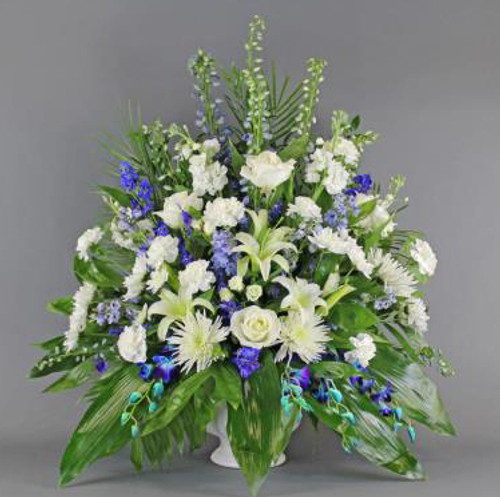 White and Blue Sympathy Basket-FNFSB-03