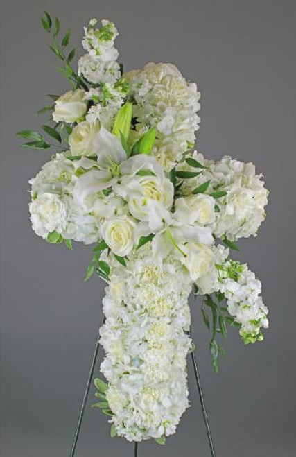 All White Standing Cross-FNSTC-02