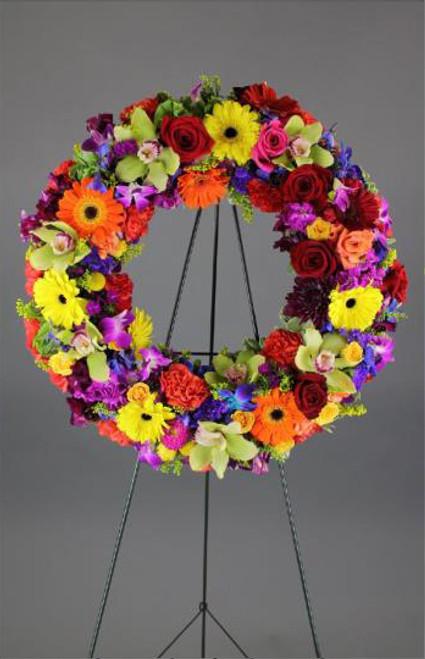 Vibrant Colors Wreath-FNFSW-13