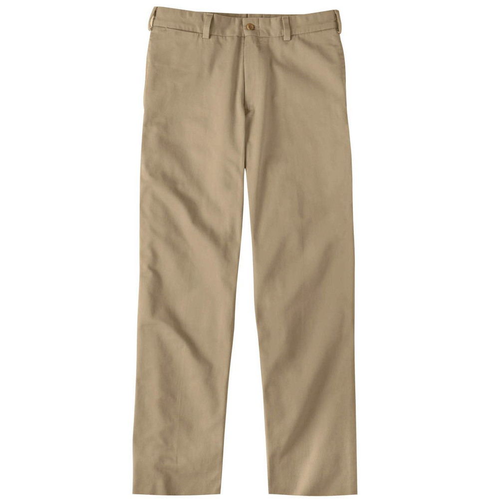 Original Twill Pant - Model M2 Standard Fit Plain Front in Khaki by Bills Khakis