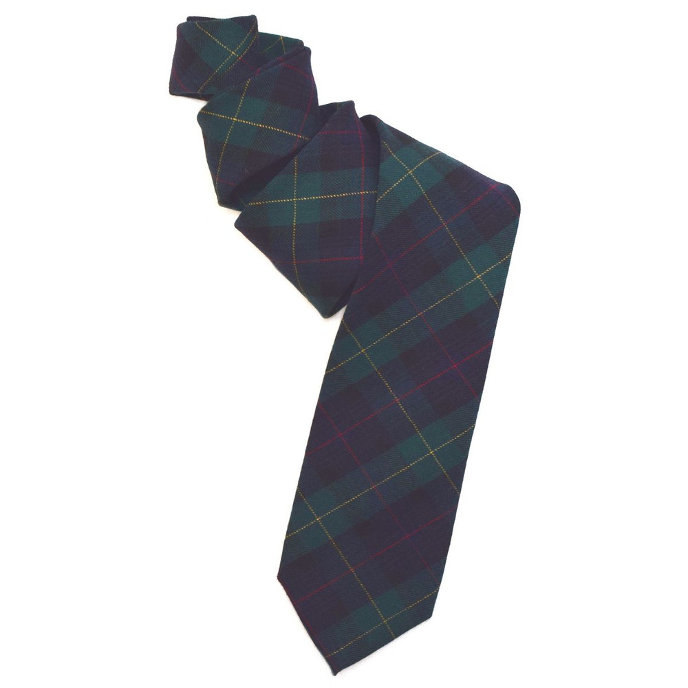 Black Watch Tartan Woven Wool Tie by Robert Jensen