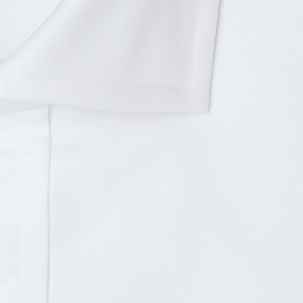 100's 2-Ply Pinpoint Dress Shirt with Wide Spread Collar in White (Tailored Fit) by Gitman Brothers
