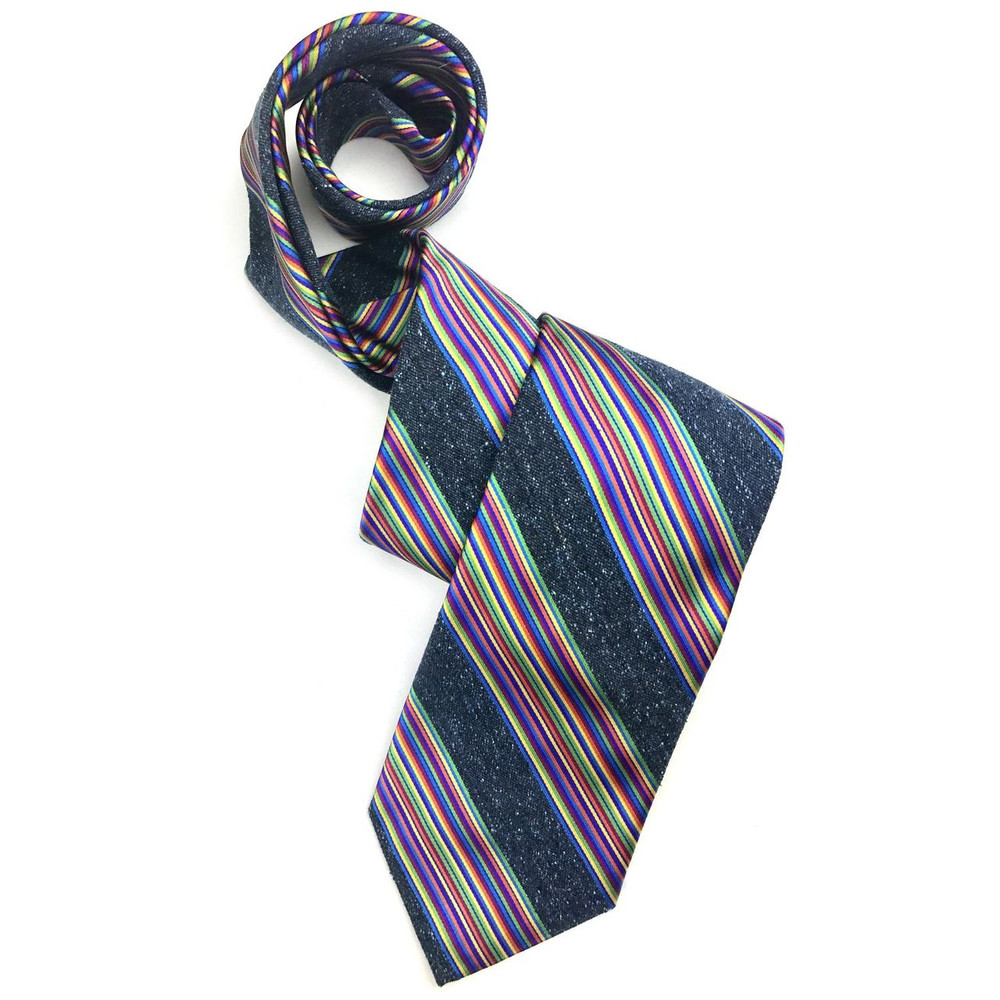 Best of Class Navy and Multi 'Seasonal' Woven Silk Tie by Robert Talbott