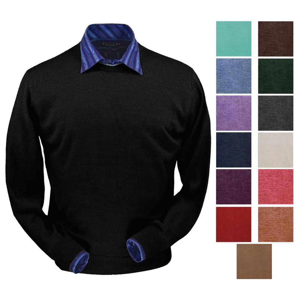 Royal Alpaca Crew Neck Sweater in Choice of Colors by Peru Unlimited