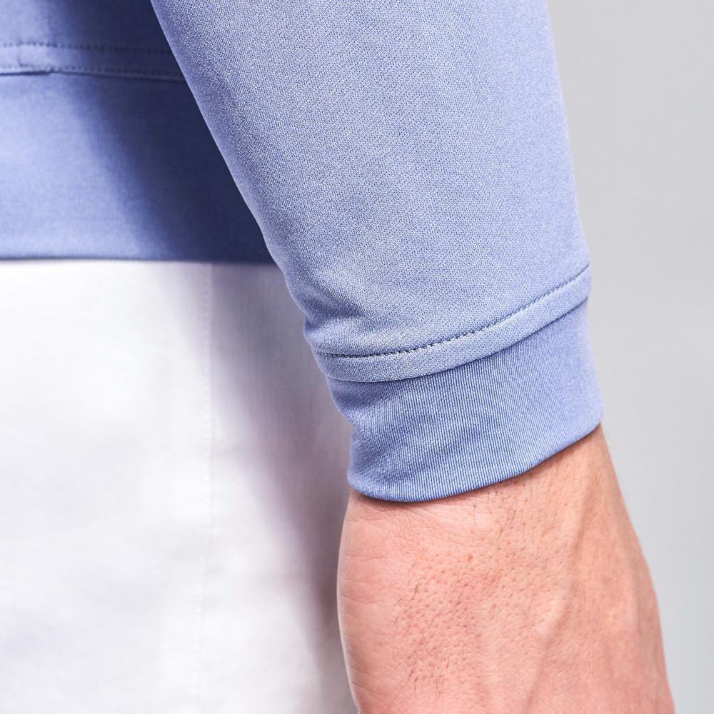 'Perth' Stretch Melange Quarter-Zip Performance Pullover in Thunderbird by Peter Millar