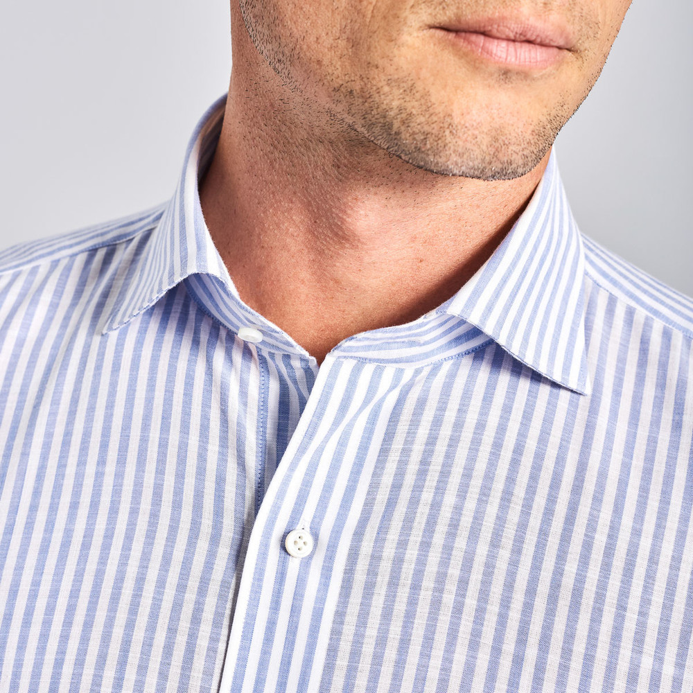 Collection Summer Chambray Sport Shirt in Blue Ceillo by Peter Millar