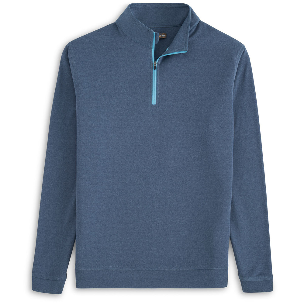 'Perth' Stretch Melange Quarter-Zip Performance Pullover in Yankee Blue by Peter Millar