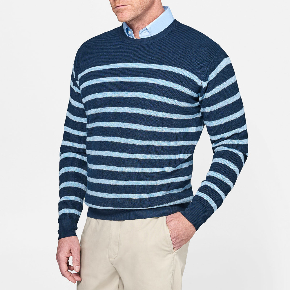 Peter Millar Crown Cool Sailor Stripe Merino Wool & Linen Cardigan Outlet Reliable Perfect Sale Online 2018 Cheap Online Sale Cheap Online F7cBIYb