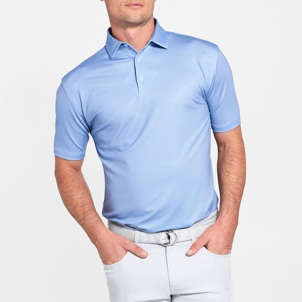 NEW Fall 2018 -Pointer Print Multi Mini Polka-Dot Performance Polo by Peter Millar- Infinity