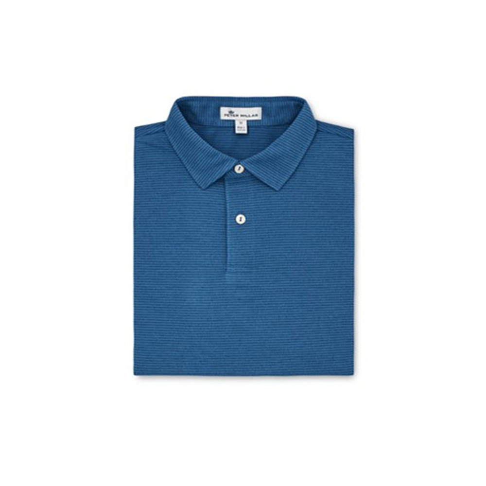 NEW Fall 2018-Windel Stripe Performance Polo by Peter Millar- Plaza Blue