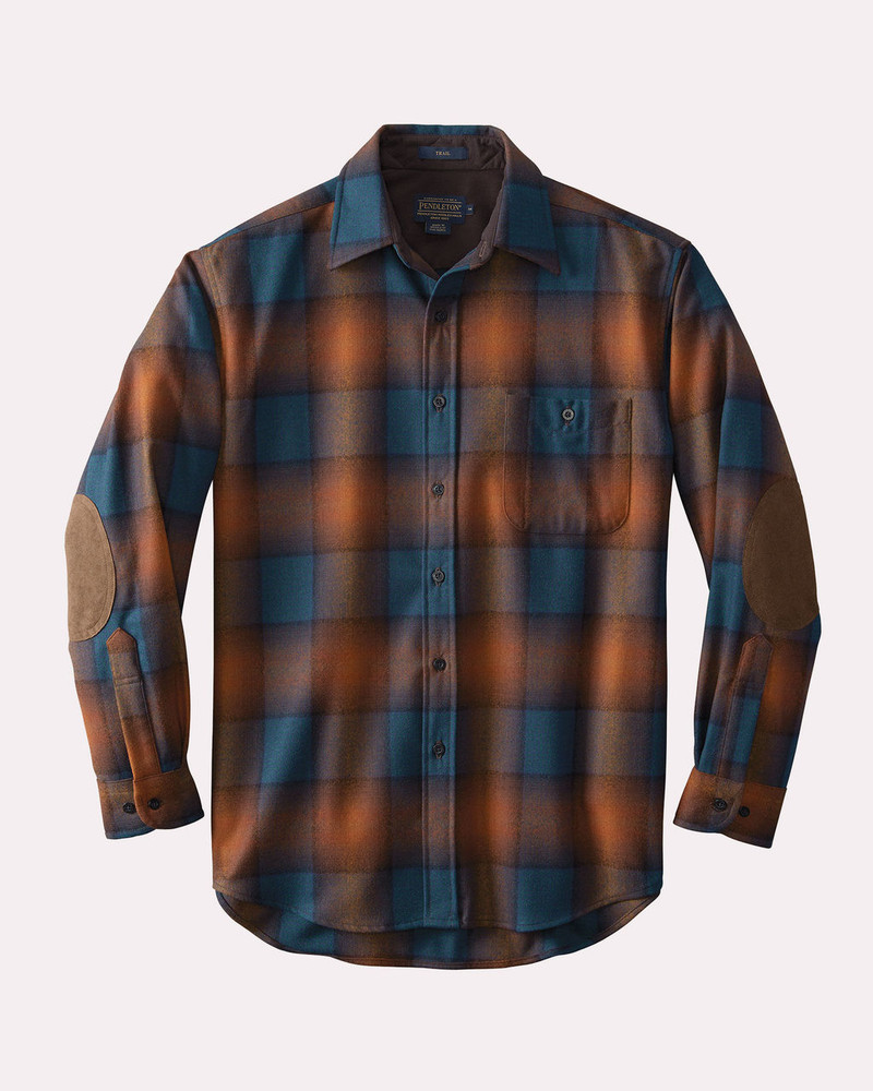 Elbow-Patch Trail Shirt in Brown/Copper Ombre by Pendleton