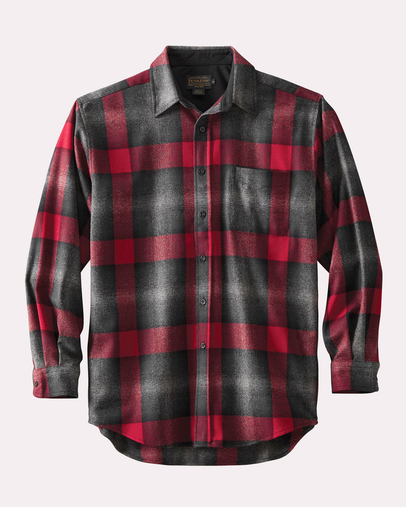Grey/Red Ombre Lodge Shirt by Pendleton