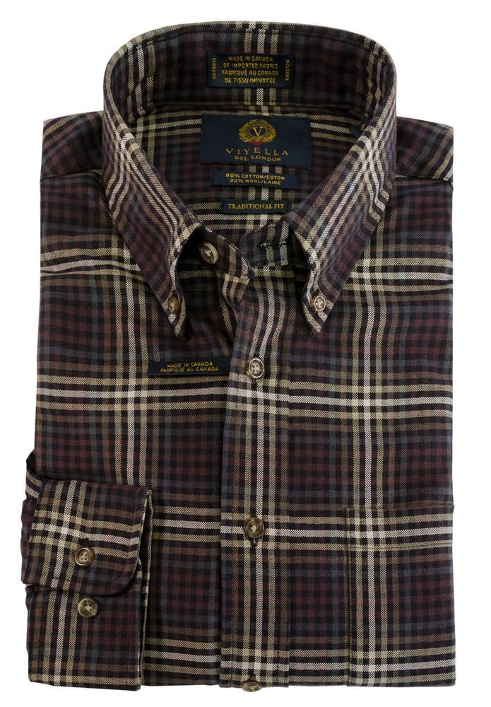 Black Plaid Button-Down Shirt by Viyella