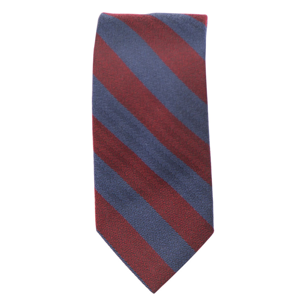 Best of Class Burgundy and Navy 'Seasonal' Woven Silk Tie by Robert Talbott