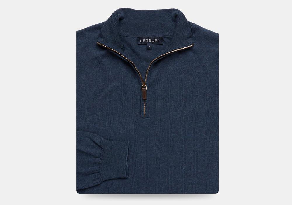 The Cadet Blue Half-zip Sweater by Ledbury