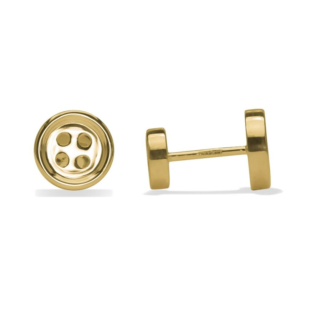 'Double Sided Button' Gold Cufflinks by Robert Talbott