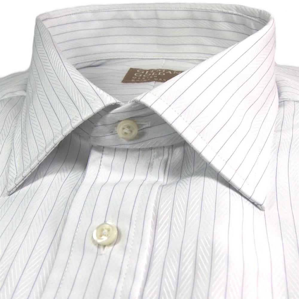 39 gitman gold 39 white and lavender herringbone stripe dress for White herringbone dress shirt