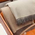 Merino Wool Blanket in Ash by Moore & Giles