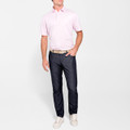 The Perfect Piqué Polo with Self Collar in Halite by Peter Millar