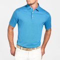 The Perfect Piqué Polo with Self Collar in Onda Blue by Peter Millar