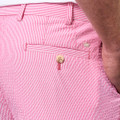 Apex Seersucker Pin Stripe Performance Short in Mambo Pink by Peter Millar