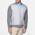 Full-Zip Mélange Hybrid Sweater in Smoke by Peter Millar